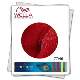 Vopsea Permanenta - Wella Professionals Koleston Perfect nuanta 77/46 blond mediu intens rosu violet