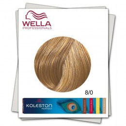 Vopsea Permanenta - Wella Professionals Koleston Perfect nuanta 8/0 blond deschis natural