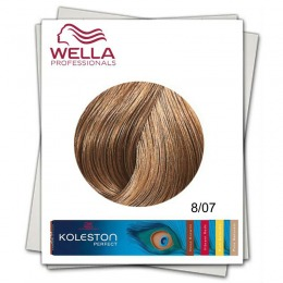 Vopsea Permanenta - Wella Professionals Koleston Perfect nuanta 8/07 blond deschis castaniu natural