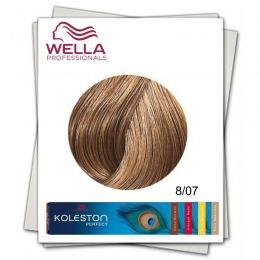 Vopsea Permanenta - Wella Professionals Koleston Perfect nuanta 8/07 blond deschis castaniu natural