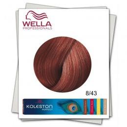 Vopsea Permanenta - Wella Professionals Koleston Perfect nuanta 8/43 blond deschis rosu auriu