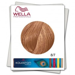 Vopsea Permanenta - Wella Professionals Koleston Perfect nuanta 8/7 blond deschis castaniu