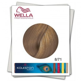 Vopsea Permanenta - Wella Professionals Koleston Perfect nuanta 8/71 blond deschis maro cenusiu