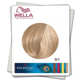 Vopsea Permanenta - Wella Professionals Koleston Perfect nuanta 9/1 blond luminos cenusiu