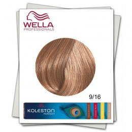 Vopsea Permanenta - Wella Professionals Koleston Perfect nuanta 9/16 blond luminos cenusiu violet