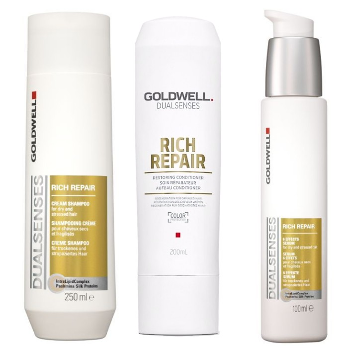 Pachet Goldwell Rich Repair 2 - Sampon, Balsam si Ser poza