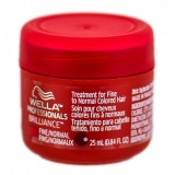 Masca pentru Par Vopsit Fin sau Normal - Wella Professionals Brilliance Mask 25 ml