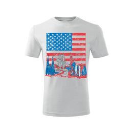 Imagine indisponibila pentru Tricou America barbati alb, L