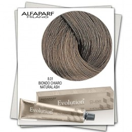 Vopsea Permanenta - Alfaparf Milano Evolution of the Color nuanta 8.01 Biondo Chiaro Natural Ash