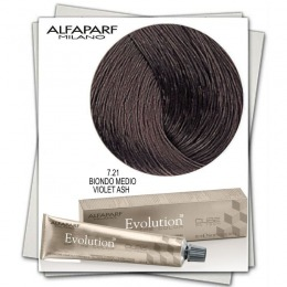 Vopsea Permanenta - Alfaparf Milano Evolution of the Color nuanta 7.21 Biondo Medio Violet Ash