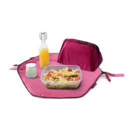 Geanta pliabila 2 in 1 pentru pranz si servet de masa - Geanta Eat'n'Out Mini Square Roz