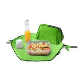 Geanta pliabila 2 in 1 pentru pranz si servet de masa - Geanta Eat'n'Out Mini Square Verde