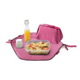 Geanta pliabila pentru pranz si servet de masa 2 in 1 - Geanta Eat'n'Out Mini Eco Roz