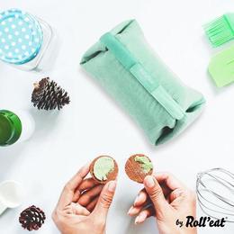 Geanta pliabila pentru pranz si servet de masa 2 in 1 - Geanta Eat'n'Out Mini Eco Verde