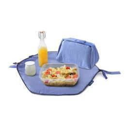 Geanta pliabila pentru pranz si servet de masa 2 in 1 - Geanta Eat'n'Out Mini Eco Bleu