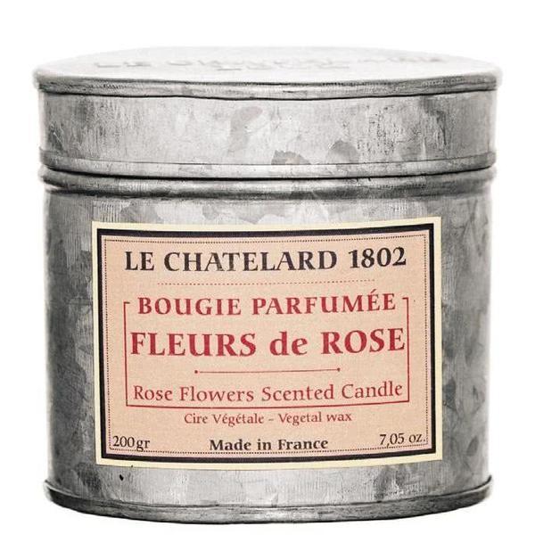 Lumanare Parfumata 200g Trandafir Rose Le Chatelard 1802 Cutie Galva 2 Fitile
