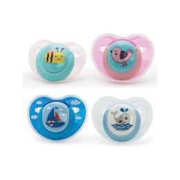 Suzete ortodontice 0 luni +, 2 bucati, Vital Baby Model - pentru fete