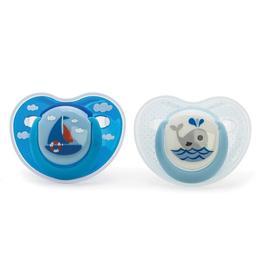 Suzete ortodontice 0 luni+, 2 bucati, Vital Baby Model - pentru baieti