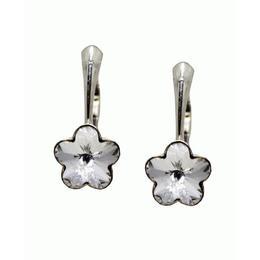 Cercei Argint si Cristale Swarovski, BijouxMAG, Hermione, 2.2 cm, Argint 925