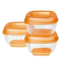 Set Recipiente mici pentru congelat 8 Press 'n' Pop 4 luni+, culoare portocaliu