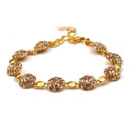 Bratara 200 Crystals Golden