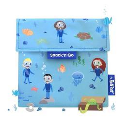Gentuta reutilizabila pentru gustari Snack'n'Go Kids Ocean