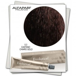 Vopsea Permanenta - Alfaparf Milano Evolution of the Color nuanta 5.3 Castano Chiaro Gold