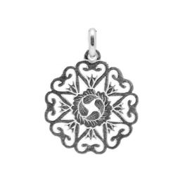 Pandantiv Argint, BijouxMAG, Artemia, 2 cm, Argint 925
