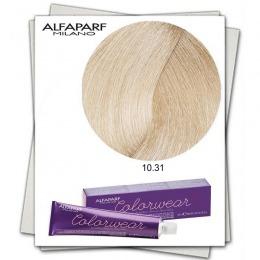 Vopsea Fara Amoniac - Alfaparf Milano Color Wear nuanta 10.31 Biondo Extrachiaro Dorato Cenere