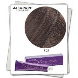 Vopsea Fara Amoniac - Alfaparf Milano Color Wear nuanta 7.21 Biondo Medio Irise Cenere