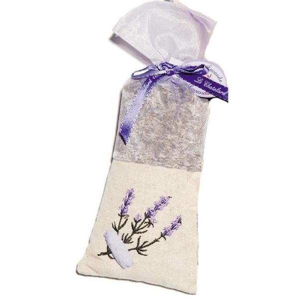 Saculet Flori Lavanda Naturala de Provence 50g Panza In si Organza Brodat Le Chatelard 1802 imagine produs