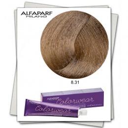 Vopsea Fara Amoniac - Alfaparf Milano Color Wear nuanta 8.31 Biondo Chiaro Dorato Cenere
