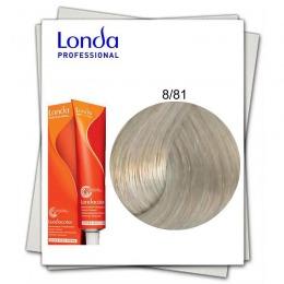 Vopsea Fara Amoniac - Londa Professional nuanta 8/81 blond deschis perlat cenusiu