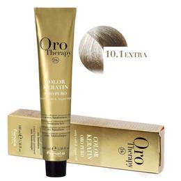 Vopsea Permanenta fara Amoniac Fanola Oro Therapy Color Keratin 10.1EXTRA Blond Platinat Cenusiu, 100ml