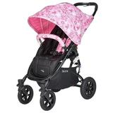 Carucior sport cu roti gonflabile Valco SNAP 4 CZ Edition White and Pink Flowers
