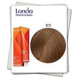 Vopsea Fara Amoniac - Londa Professional nuanta 8/3 blond deschis auriu