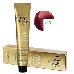 Vopsea Permanenta fara Amoniac Fanola Oro Therapy Color Keratin 5.5 Castaniu Deschis Mahon, 100ml de la esteto.ro