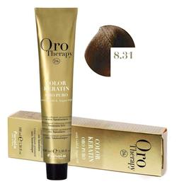 Vopsea Permanenta fara Amoniac Fanola Oro Therapy Color Keratin 8.31 Blond Deschis Nisipiu, 100ml de la esteto.ro