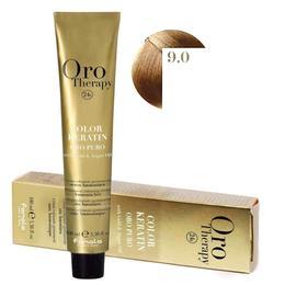 Vopsea Permanenta fara Amoniac Fanola Oro Therapy Color Keratin 9.0 Blond Foarte Deschis, 100ml