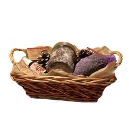 Set cadou Cos - Craciun cosmetice 100% naturale Lucille - relaxare cu lavanda
