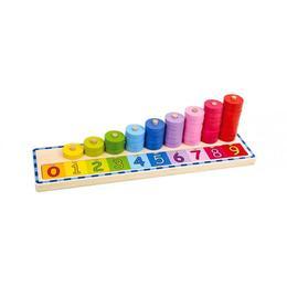 Numaratoare inele colorate de stivuit,Tooky Toy