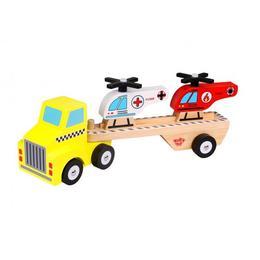 Camion de lemn cu elicoptere,Tooky Toy