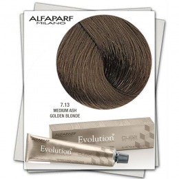 Vopsea Permanenta - Alfaparf Milano Evolution of the Color nuanta 7.13 Medium Ash Golden Blonde