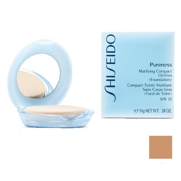 Fond de Ten Compact Matifiant - Shiseido Pureness Matifiying Compact Oil-Free Foundation - 50 Deep Ivory, 11g