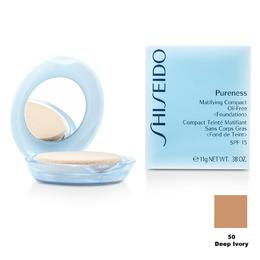 Fond de Ten Compact Matifiant - Shiseido Pureness Matifiying Compact Oil-Free Foundation - 50 Deep Ivory, 11g