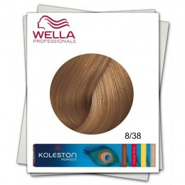Vopsea Permanenta - Wella Professionals Koleston Perfect nuanta 8/38 blond deschis auriu albastrui