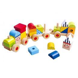 Tren de stivuit piese din lemn, Tooky Toy