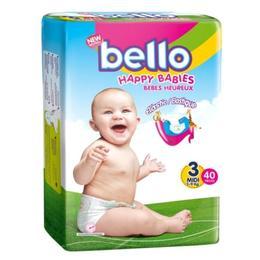 Scutece Copii Bello - Midi, 5 - 9 kg, 40 buc