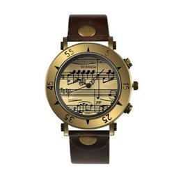Ceas de dama Retro Vintage, musical style, curea piele