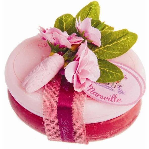 Set Cadou Doublette Sapun Natural de Marsilia 2x100g Trandafir Bujor Cirese Le Chatelard 1802 esteto.ro